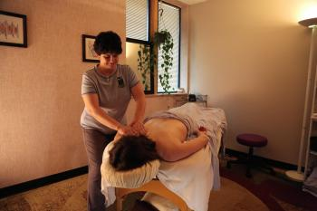 a typical massage room